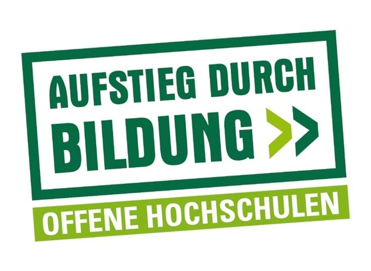 Logo Förderprogramm Aufstieg durch Bildung, Wettbewerb Offene Hochschulen